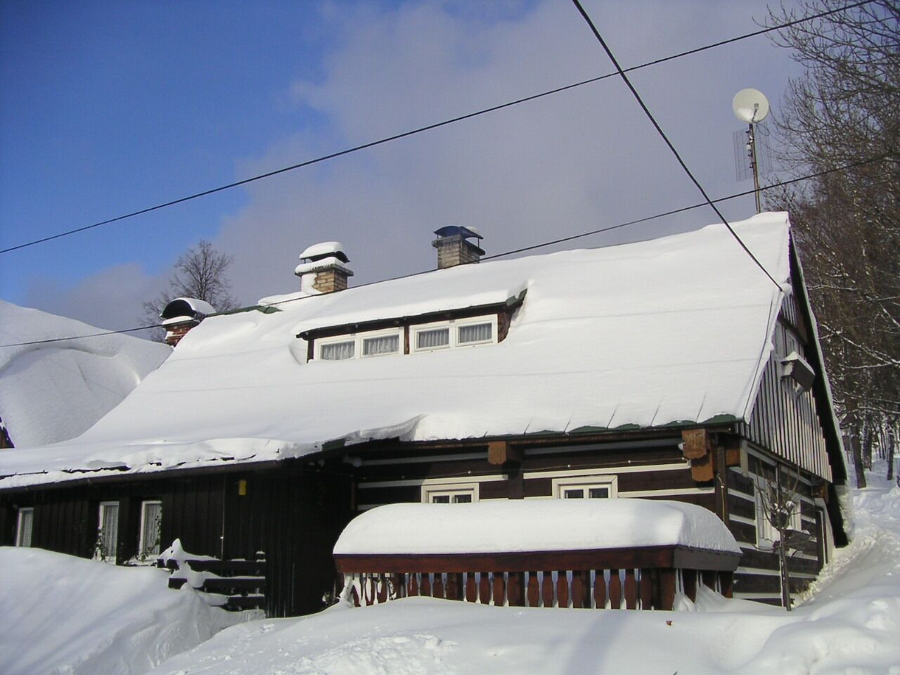 Ferienhaus in Winter